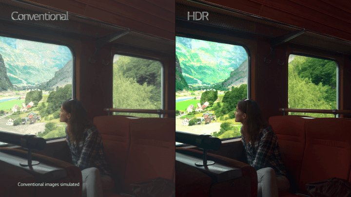 Diferença entre uma foto com e sem HDR