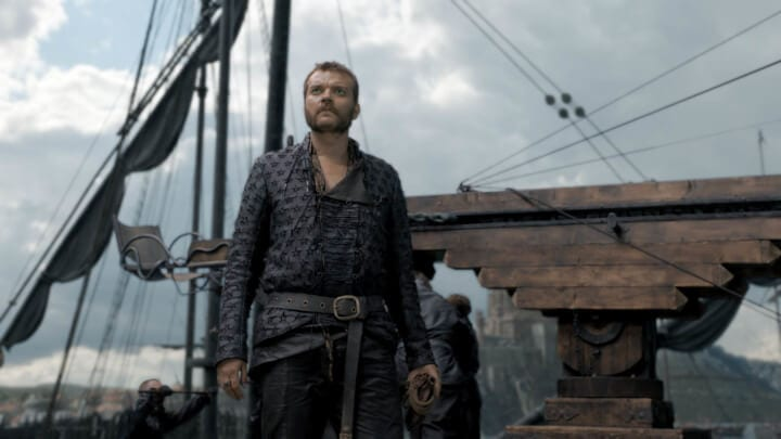 Euron Greyoy na prévia do quinto episódio da oitava temporada de Game of Thrones.