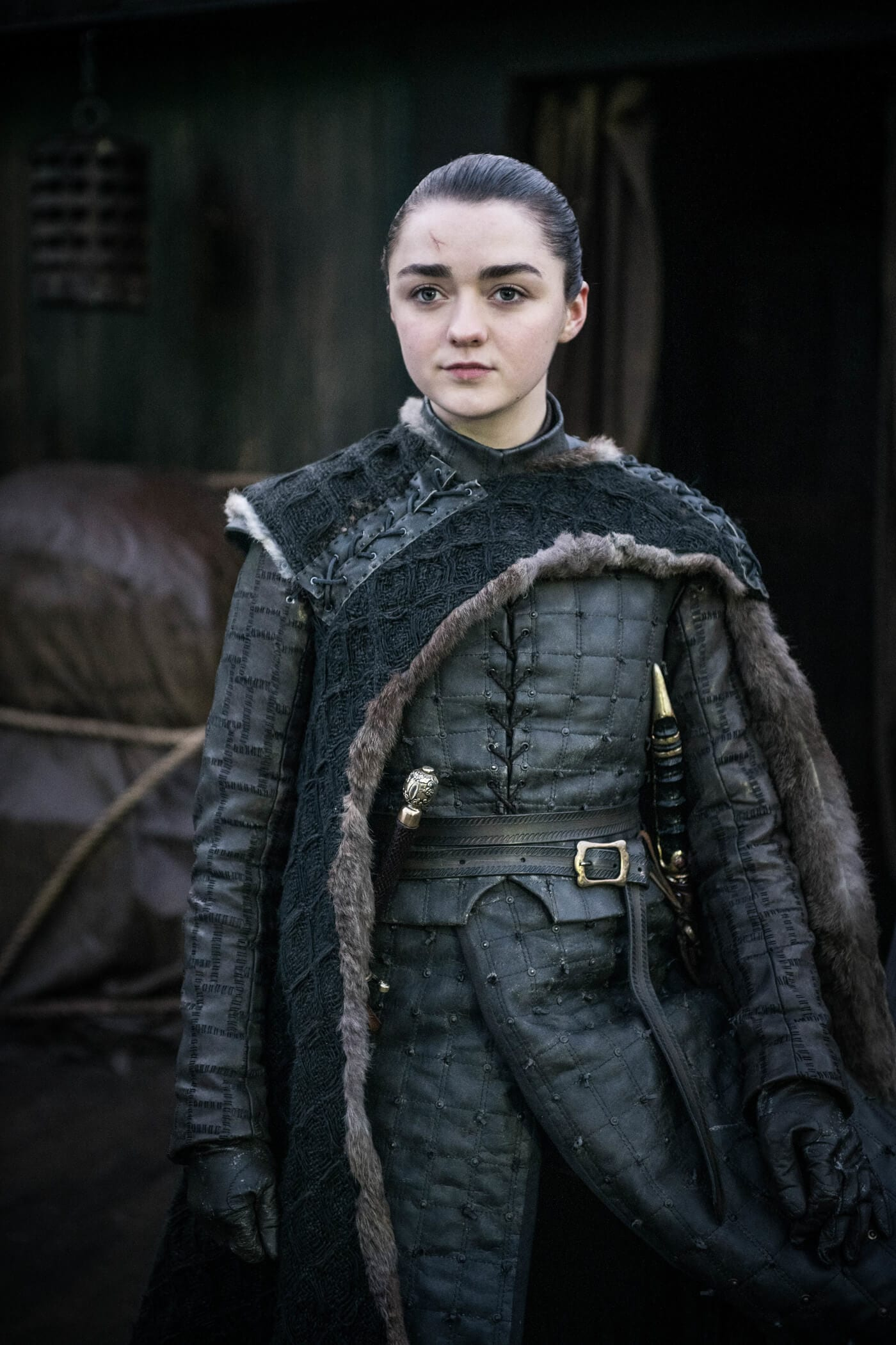 Arya stark no último episódio de game of thrones.