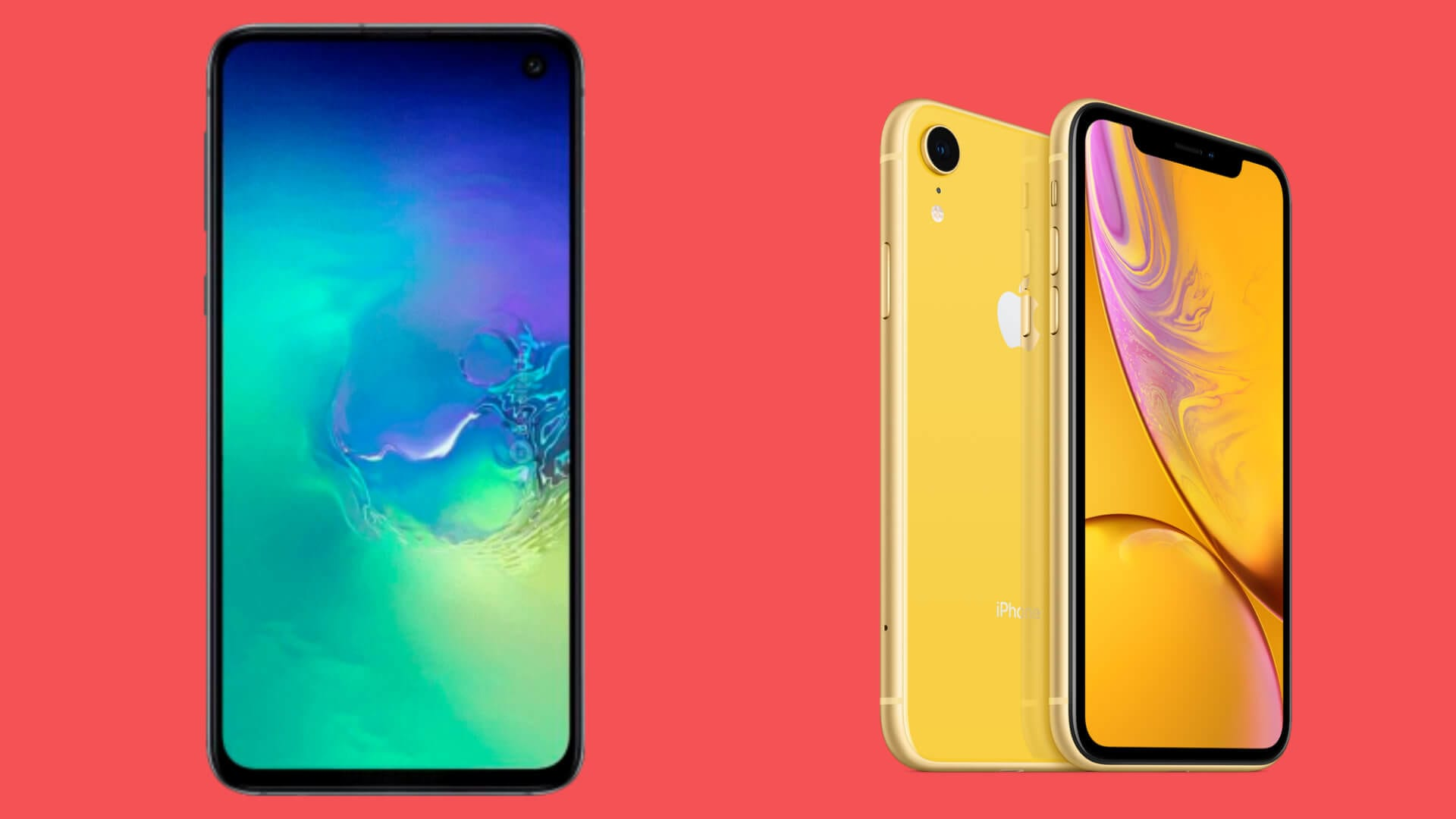 Galaxy s10e v iphone xr