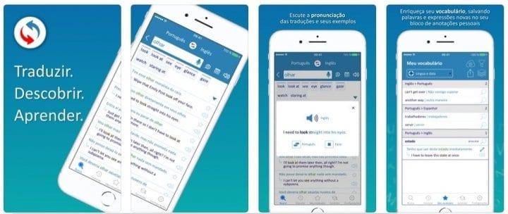 Reverso dicionário e tradutor - melhores apps Android e ios