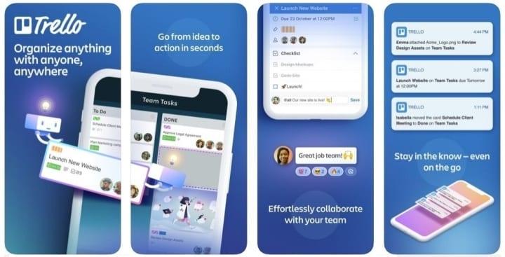 Apps de produtividade - Trello