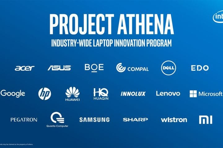 Project athena intel empresas parceiras