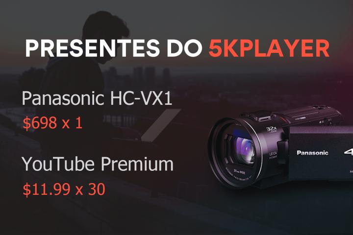 Promoção e sorteio de lançamento do 5KPlayer