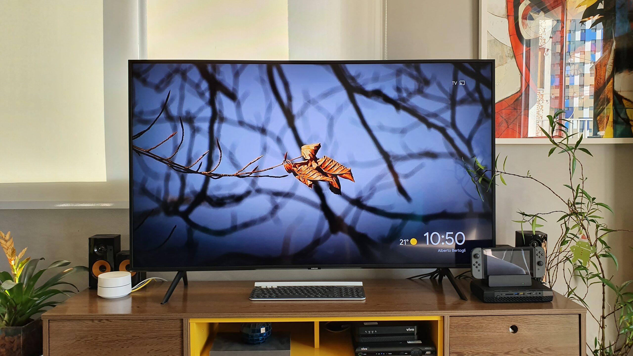 "Smart tv 4k qled 55"" samsung qn55q60ragxzd 3"