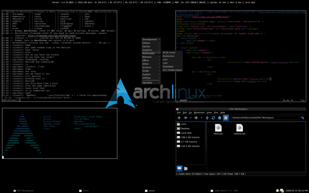Arch linux leves