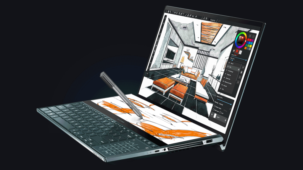 Stylus no ZenBook Pro Duo