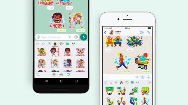 Brasil ganhou dois pacotes exclusivos de figurinhas na nova atualização do WhatsApp