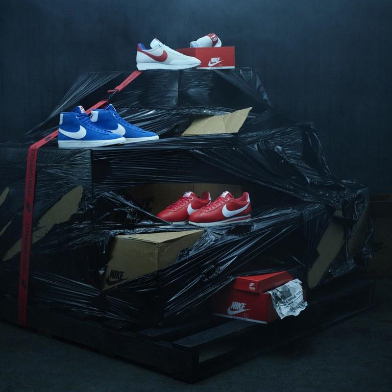 A nova linha se inspira em tendências da Nike na década de 80.