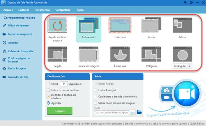 O apowersoft é um programa gratuito e simples que permite a você gravar a tela de seu computador