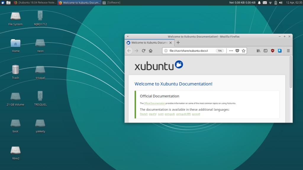 Xubuntu linux leves