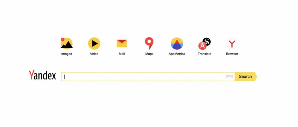Yandex buscadores alternativos ao google