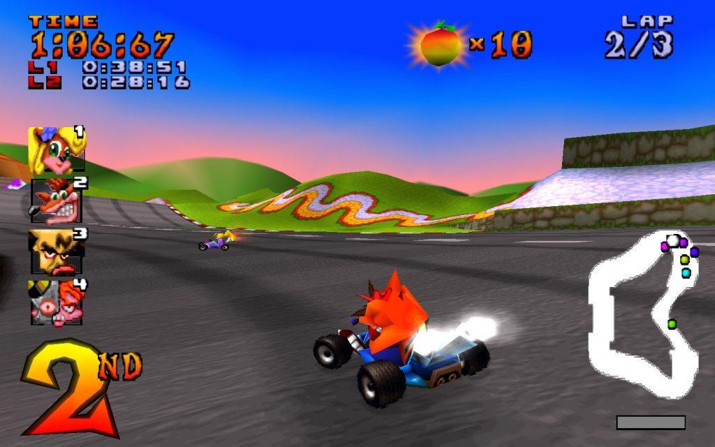 Crash Team Racing em 1999.