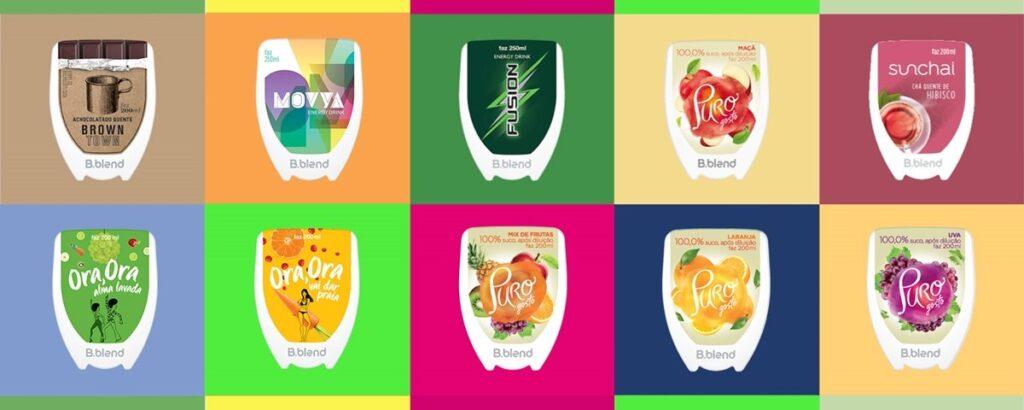 O portfólio possui diversas categorias de bebidas, com mais de 40 sabores disponíveis