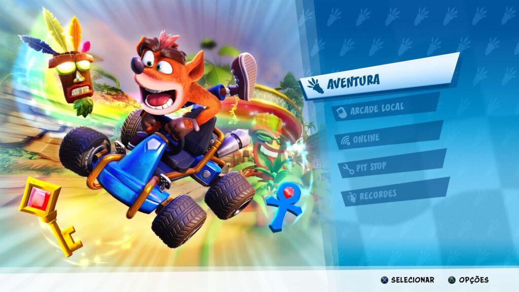 O modo arcade de Crash Team Racing Nitro-Fueled.