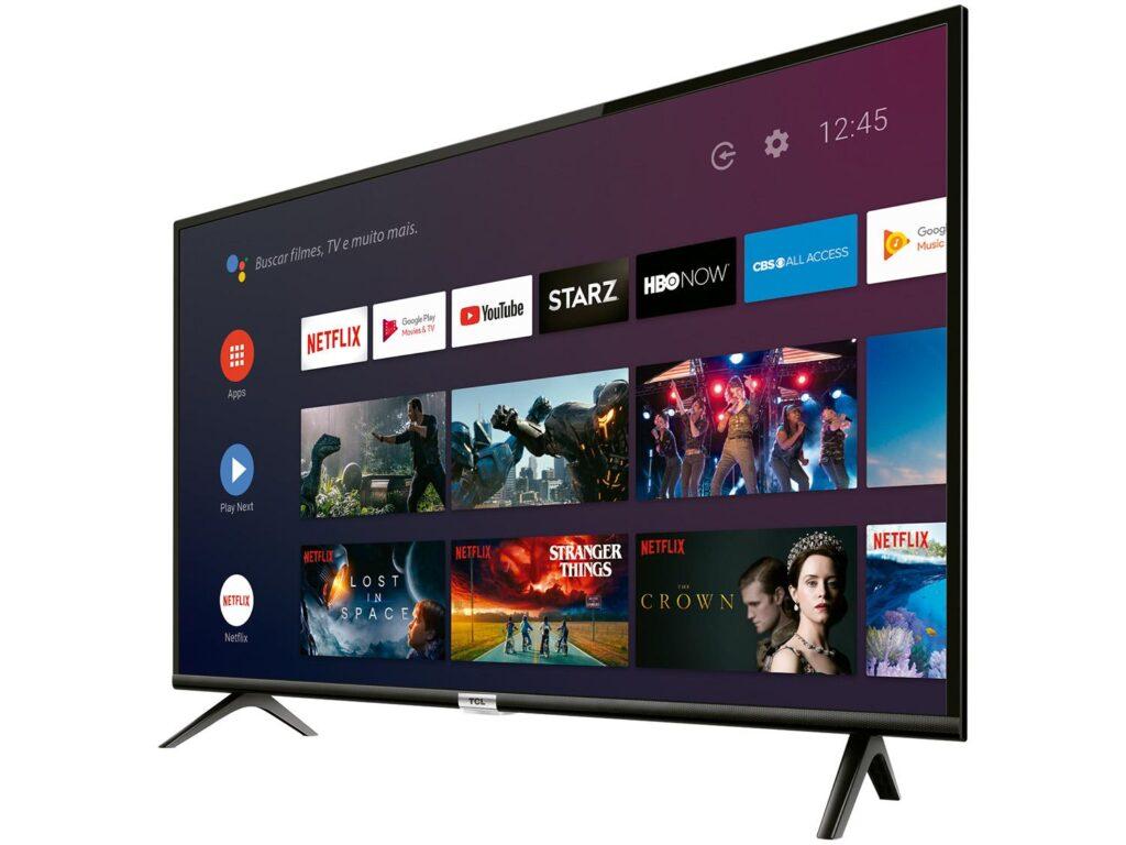 Parte Frontal da smart TV TCL S6500