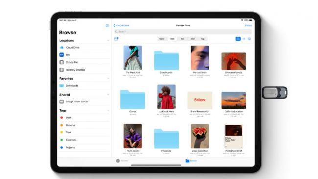 O iPadOS agora reconhece a conexão de uma unidade USB