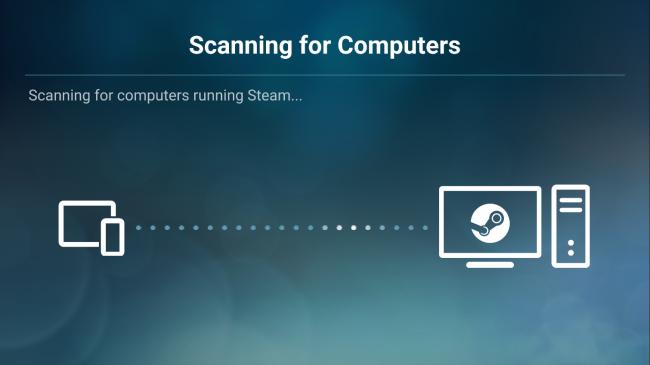 Ao iniciar o app do Steam Link. ele deve reconhecer automaticamente a conexão de seu PC com o smartphone