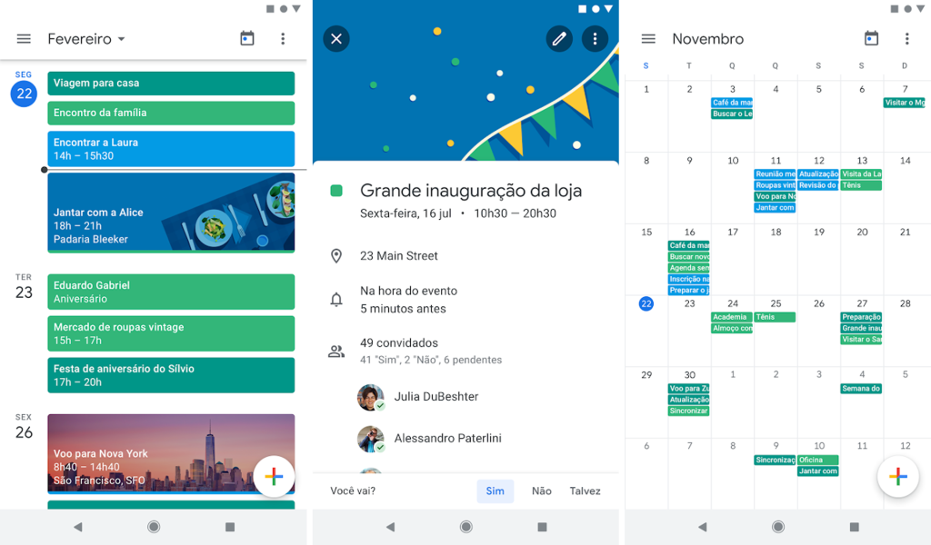 App google agenda para android e iphone