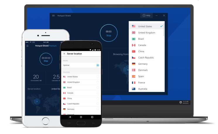 O Hotspot Shield é o serviço de VPN gratuito mais popular entre os usuários dessa tecnologia