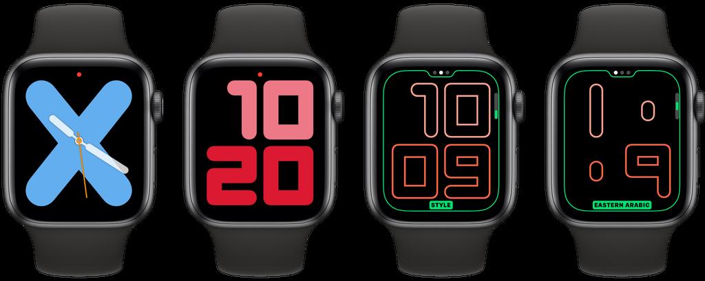 Numerais Mono e Numerais Duo são duas opções para o watchOS 6.