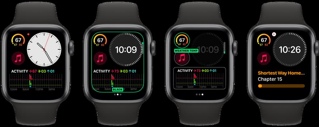 A Apple anova faces Modular Compact no watchOS 6.