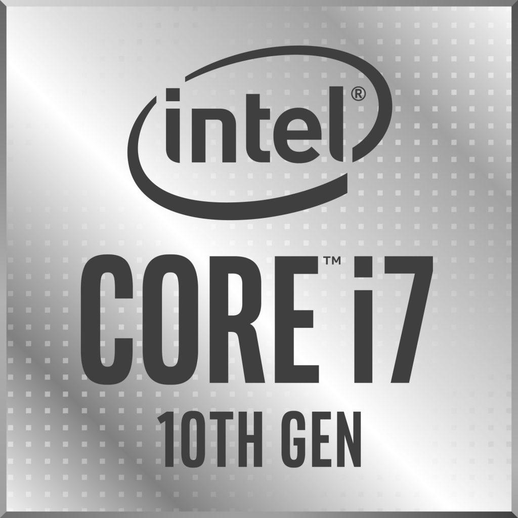Logo da Intel i7 de 10ª geração