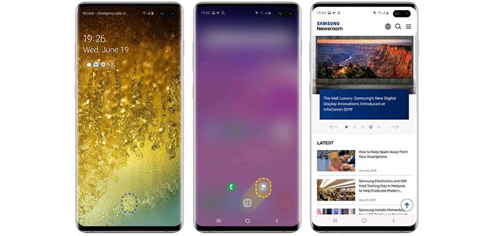 Use a função para usar aplicativos com segurança no Galaxy S10
