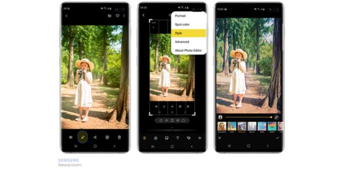 O recurso Estilo usa um algoritmo de inteligência artificial que analisa as fotos, e decide quais os melhores efeitos usar