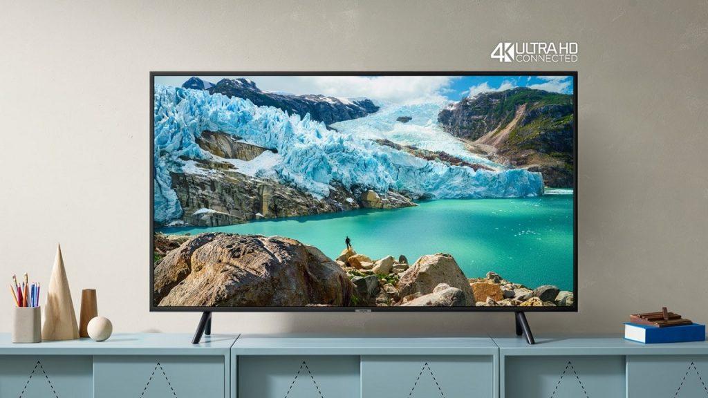 No Dia dos Pais da Samsung, você compra uma Smart TV UHD 4K RU7100 e adquire outros produtos da marca