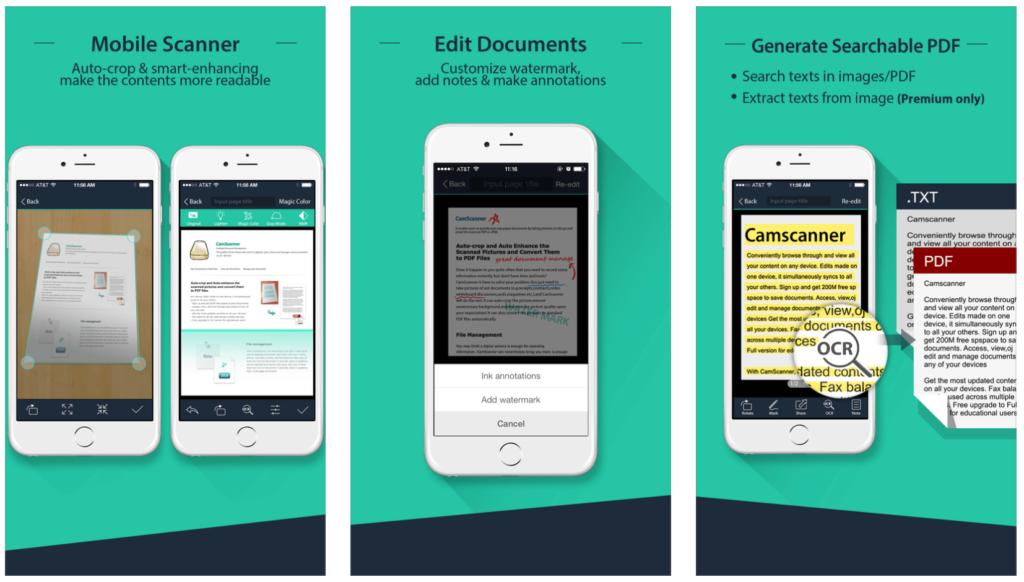 O CamScanner é o app mais bem avaliado de scanner na Apple Store