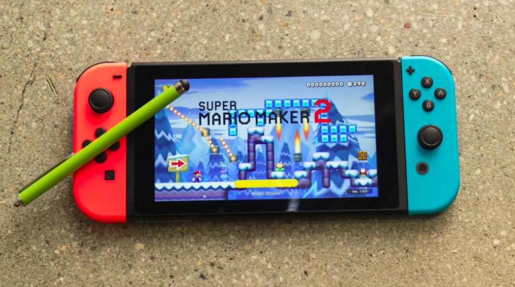 Utilizar uma stylus facilita muito a criação de fases em Super Mario Maker 2