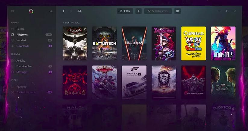 Se você conseguir acesso à versão beta, você poderá testar as funcionalides dessa nova plataforma de games