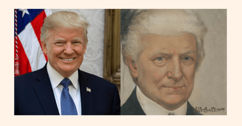Donald Trump também teve sua imagem feita pelo recurso