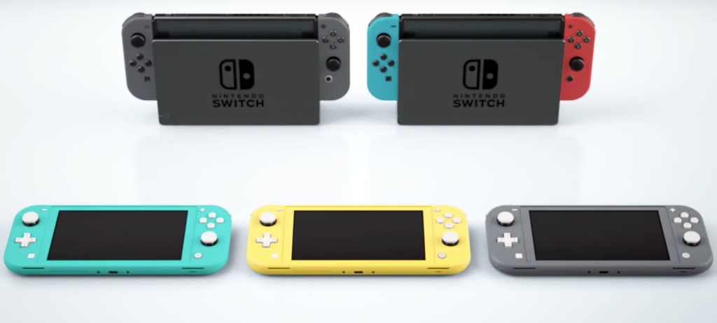 As diversas versões do nintendo switch.