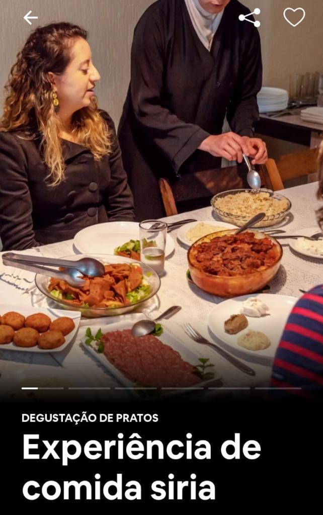 Ghazal oferece a experiência das comidas sírias em São Paulo pelo Airbnb
