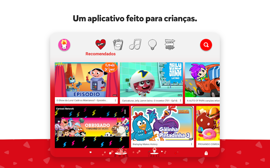Aplicativo youtube kids para android e iphone