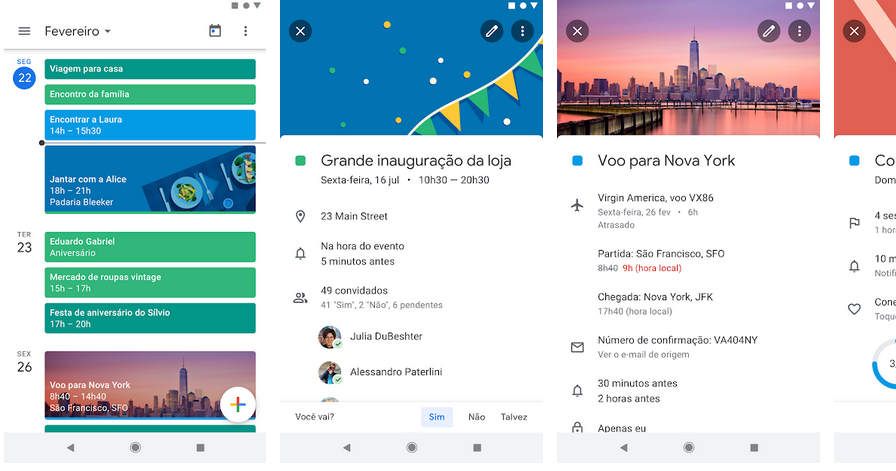 Agenda aplicativos do Google