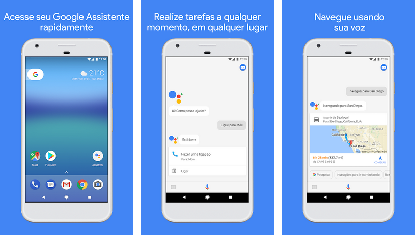 Assistente aplicativos do Google
