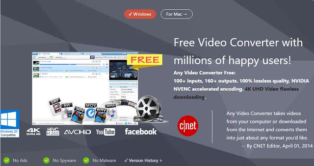 O avc é gratuito e permite que você codifique sua mídia no formato que quiser
