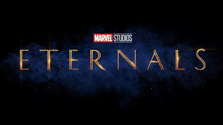 Título oficial de Os Eternos, divulgado pela Marvel.