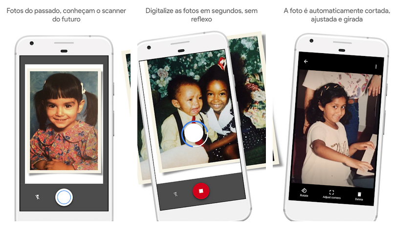 Photoscan aplicativos do google