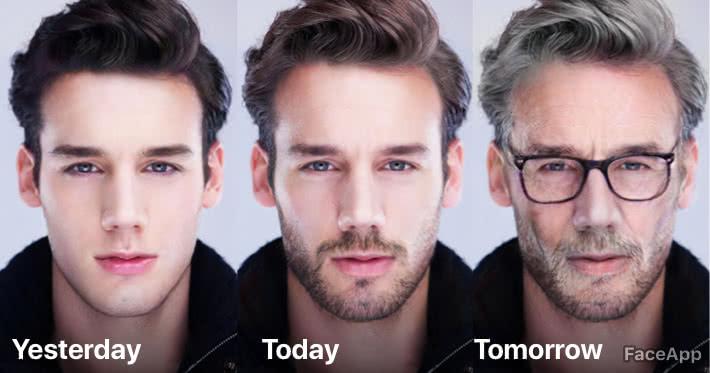 Faceapp é capaz de tornar alguém mais novo ou mais velho