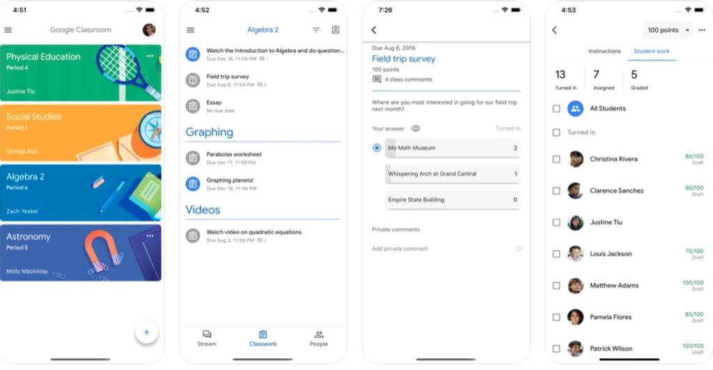 Aplicativo google classroom para criação de salas no android e iphone