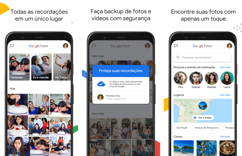 Backup de fotos com o app google fotos para android e iphone