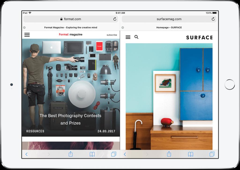 O modo Split View valoriza muito a parte multitask dos novos iPads