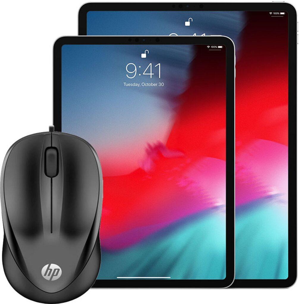 Pela primeira vez, é permitindo que um mouse USB seja conectado a um iPad