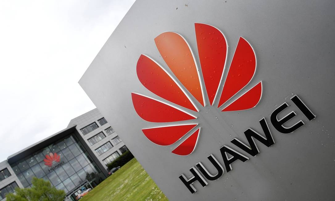 82475340 signage is seen at the huawei offices in reading britain may 2 2019. Reuters toby melville