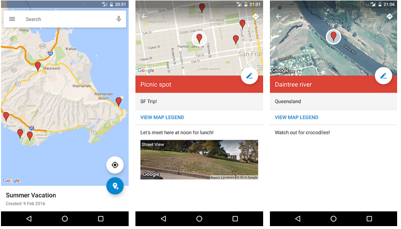 MyMaps aplicativos do Google