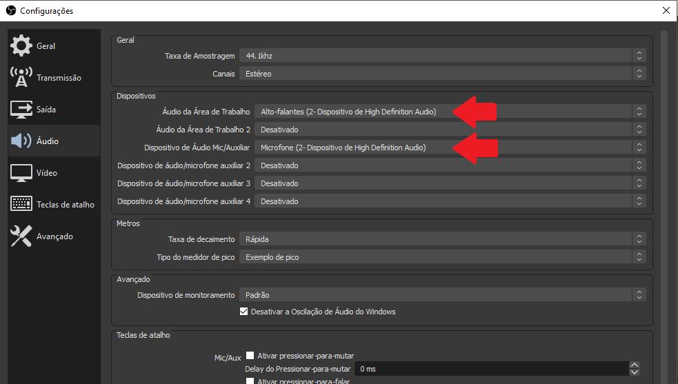 Tutorial para configurar OBS
